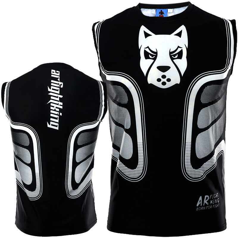 Quick Dry Printed Training Boxing Jerseys Muay Thai Jiu Jitsu T Shirt Mma Clothing Boxing Sauna Suit Mma Compression Shirts