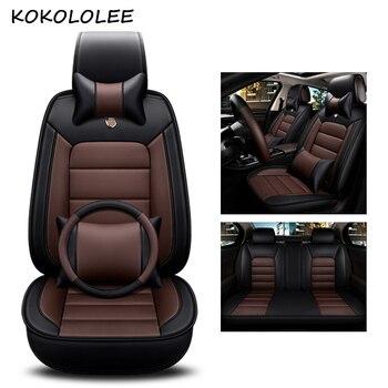 kokololee pu leather car seat cover For skoda octavia 2 superb 2 hyundai getz creta nissan qashqai car styling auto accessories