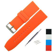 Soft Silicone Watch Band 16mm 18mm 20mm 22mm 24mm 26mm 28mm Rubber Strap Waterproof Watchband