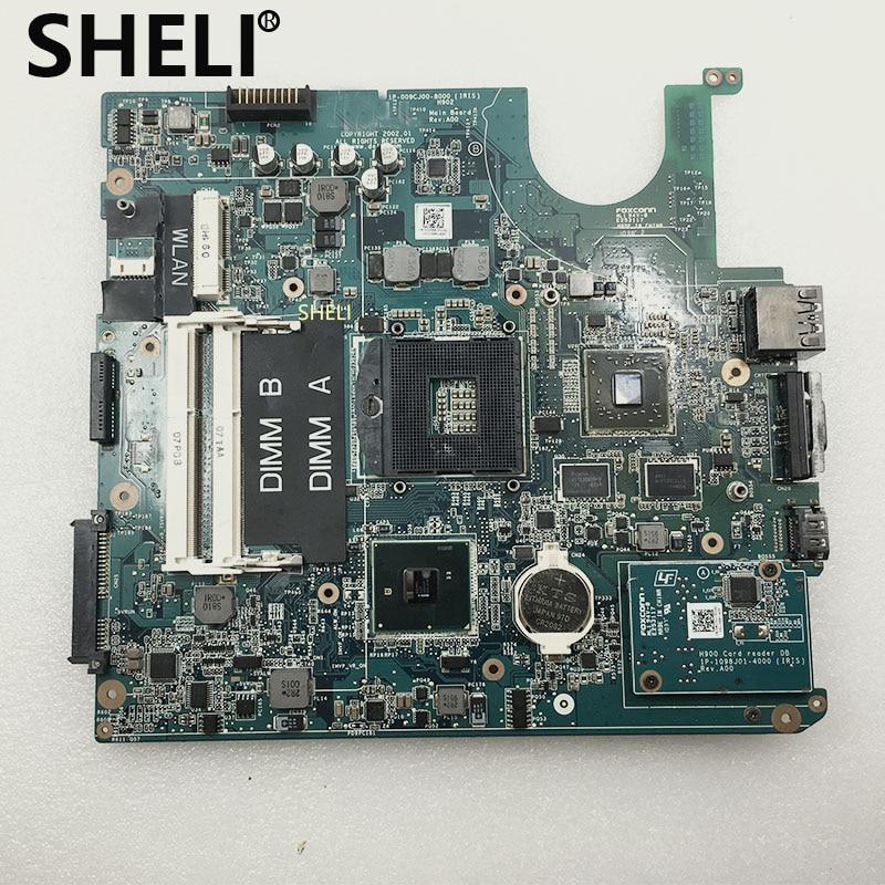 SHELI For Dell Studio 1458 CN-0205RN 0205RN 205RN W 216-0774009 GPU HM55 DDR3 Laptop Motherboard Mainboard Tested