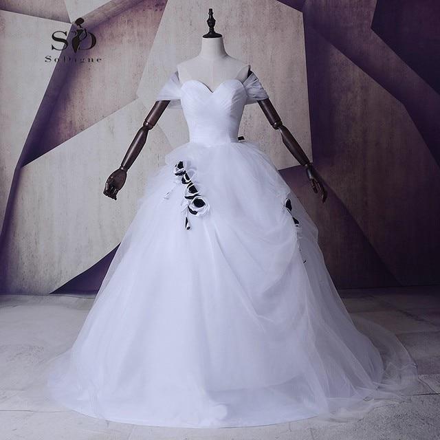 Hochzeitskleid Kathedrale Blumen Weißen Brautkleid Masquerade ...