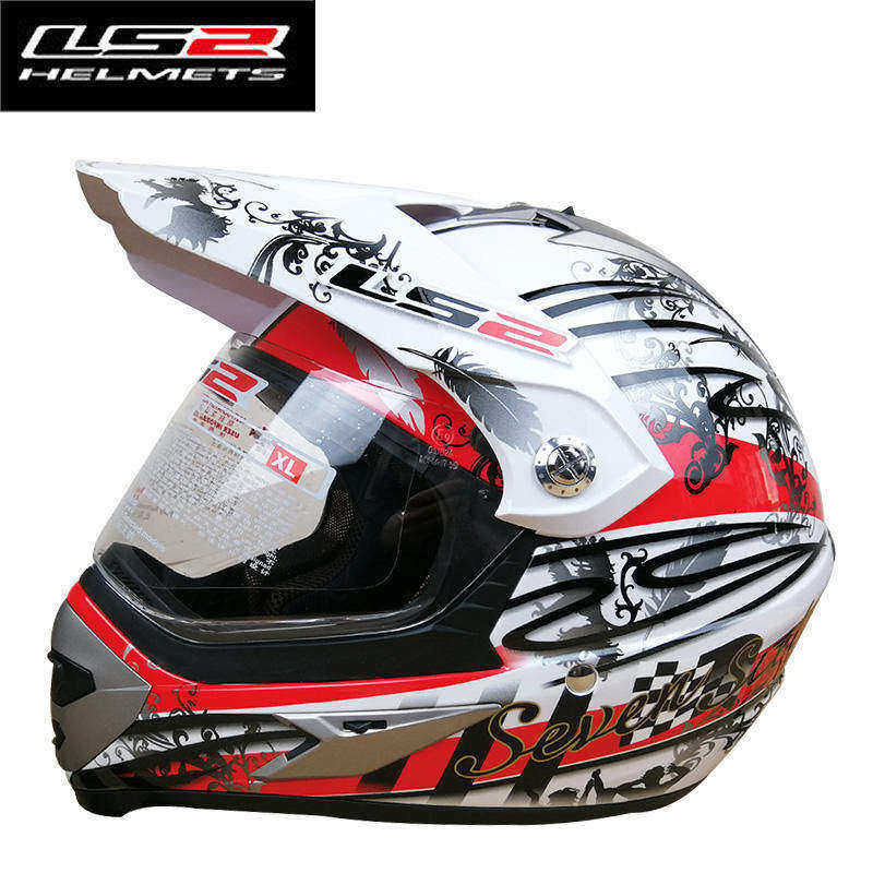 LS2 MX433 motocross helmet with windproof shield 12 painting color avialable & safty certification real LS2 moto helmets