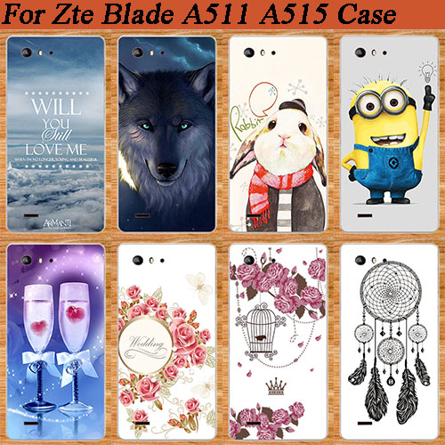 New Painting Case cute lovely print design SOFT TPU back case For ZTE Blade A515 a 515 DIY Colored Phone Cover For ZTE A515 image