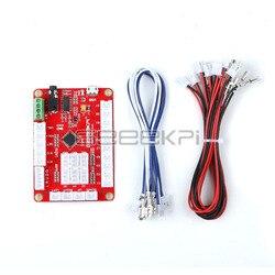 GeeekPi Nul Vertraging USB Encoder Rode Besturingskaart naar PC Joystick met Kabels voor Arcade Joystick DIY Kits Onderdelen Game raspberry Pi
