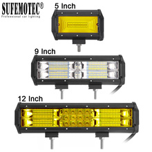 12 дюймов 72 Вт 180 светодиодный свет бар пятно потока лучи для 4X4 внедорожники мотоциклетная противотуманная фара в 24 вождения работы внешнее освещение