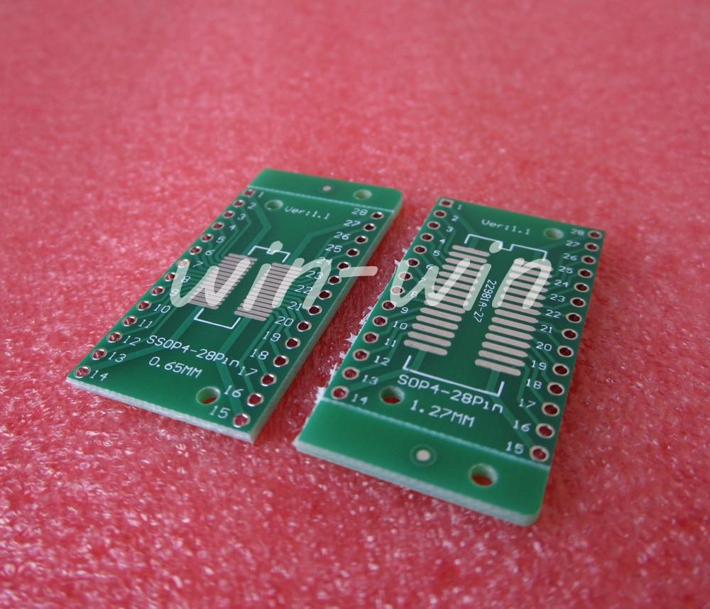 10pcs TSSOP28 / SSOP28 to DIP28 Pinboard SMD to DIP Adapter 0.65/1.27mm