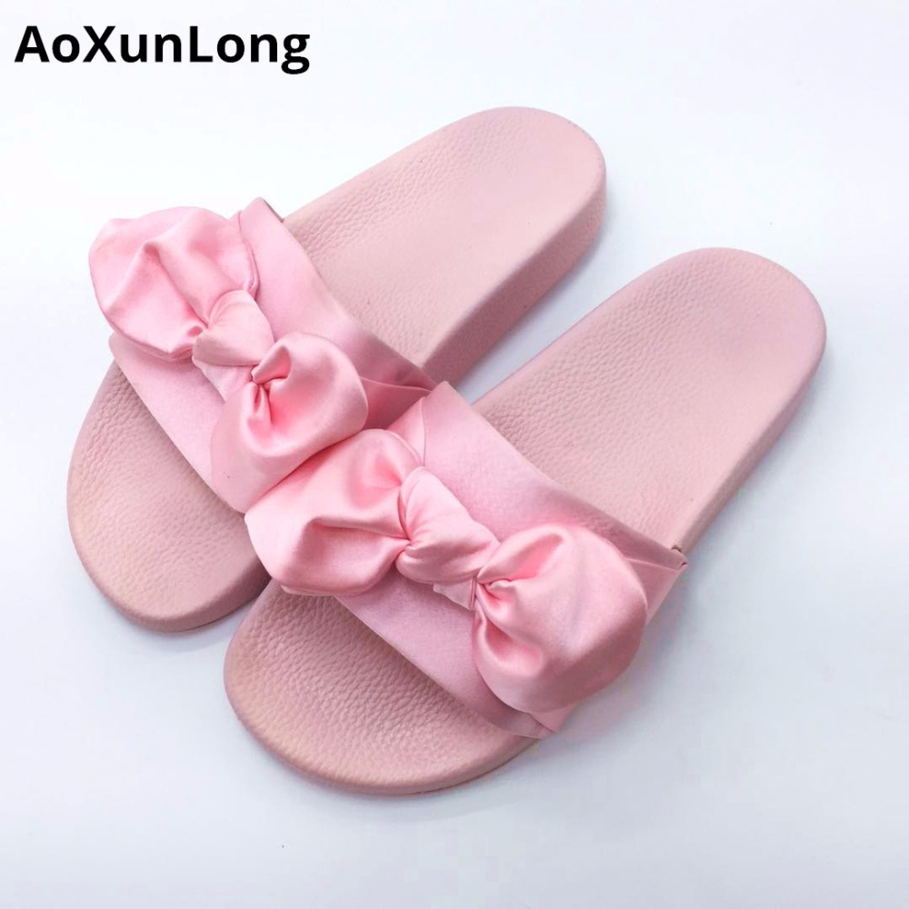 AoXunLong Fenty Rihanna Slippers Donna Cute Bow Home Slippers Fashion - Scarpe da donna