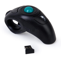 10M black Wireless 2.4G Air Mouse Handheld Trackball Mouse Mini USB Optical Trackball Mice for laptop