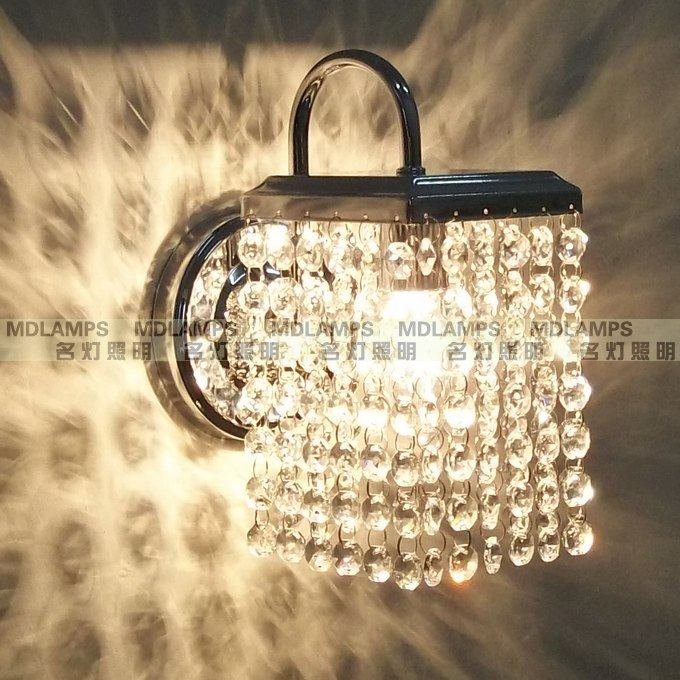Modern square wall lights Crystal combination Crystal Aisle bedroom bedside entrance Wall Lamp Sconce Lighting  ZA modern corridor crystal wall lamp bedside lamp bedroom lamp aisle lighting fixtures specials zl284 lu1025