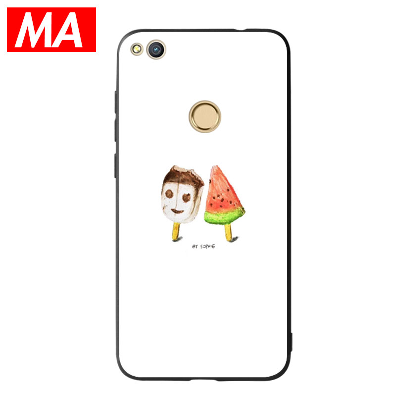 MA Refresh style and white Phone Case For Huawei P8 lite 2017 P9 P10 P20Lite Plus Nova Honor 6C 6A 6X Honor 8 Honor 9 Mate10lite
