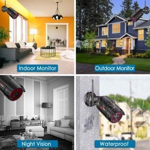 Image 5 - Anrun 1080P 8CH الرئيسية CCTV عدة نظام مراقبة الأمن في الهواء الطلق للرؤية الليلية كاميرا IP واي فاي مع 12 بوصة رصد NVR أطقم