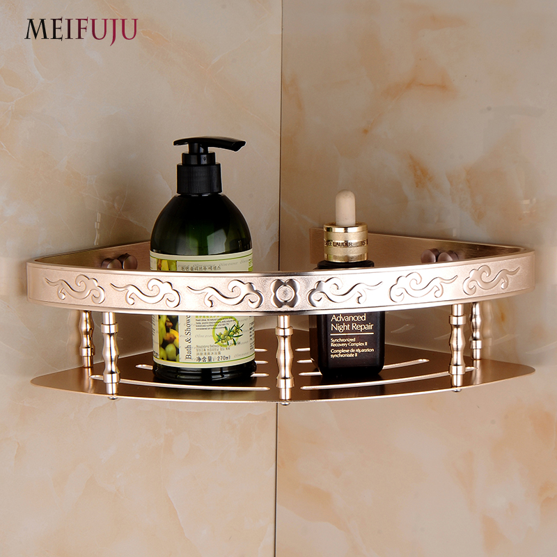 MEIFUJU Aluminum Bathroom Shelves Shampoo Soap cosmetic shelf with ...