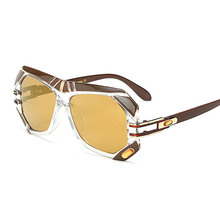 2017 Oversize Stylish Women Square Sunglasses Fashion Men Gradient/Clear Lens Glasses UV400
