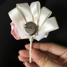 Groom's Boutonniere with Satin Rose