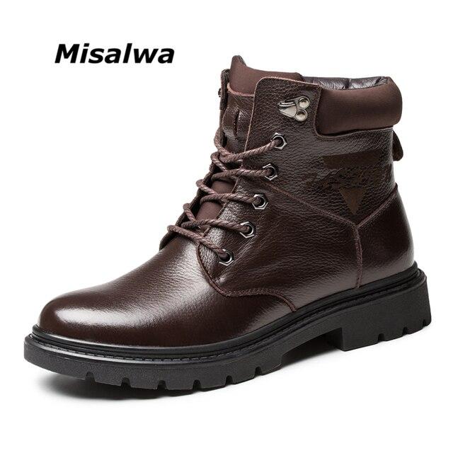 Hommes martin bottes d'hiver de haute qualité cuir cheville bottes automne et hiver hommes chaussure Kd4D3U