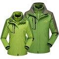Two-Pieces Fleece liner Removable Brand Women Men Outdoor Camping Hiking Waterproof Windproof Mountain Sport Thicken Ski Jackets