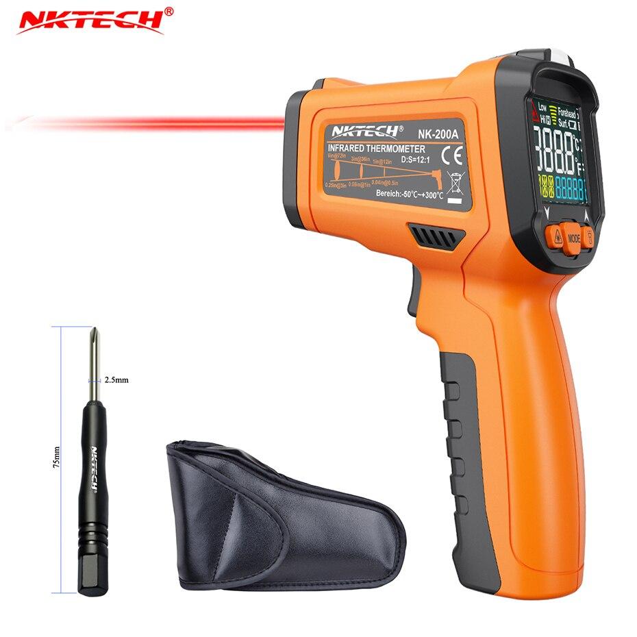 NKTECH NK-200A LCD Numérique Infrarouge IR Gun Thermomètre-50 ~ 300 Celsius Température Ambiante-20 ~ 60 Non -contacter Testeur avec Alarme