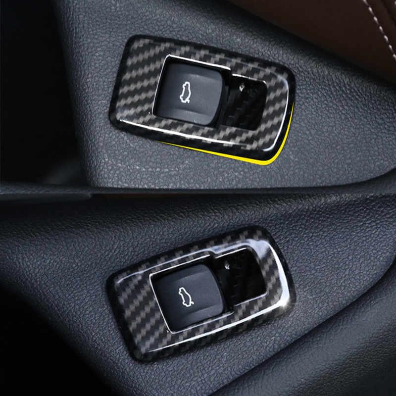 Chrome รถด้านหน้าประตูปุ่มสวิทช์ตกแต่งสำหรับ BMW 5 Series G30 2018 2019 LHD ภายในอุปกรณ์เสริม