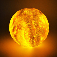 3D moon lamp Led night light colorful starry sky moonlight table lamp flap 3 colors change for home indoor decoration lighting