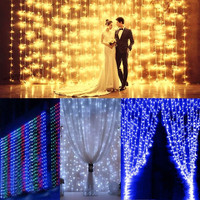 304 stks/set LED Wedding Licht Icicle Kerst Licht Home LED String Fairy Gloeilamp Verjaardagsfeestje Tuin Gordijn Decoratie