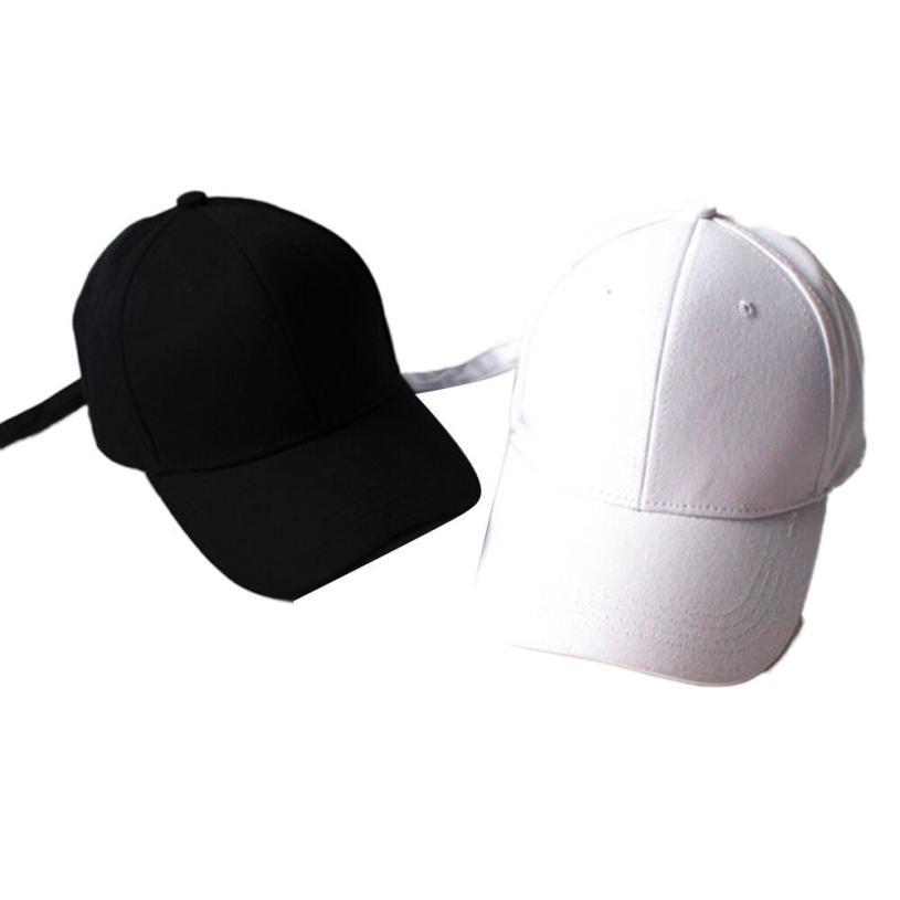 Women Strap Caps Cotton Girl Hats Snapback Ball Cap Female -4791