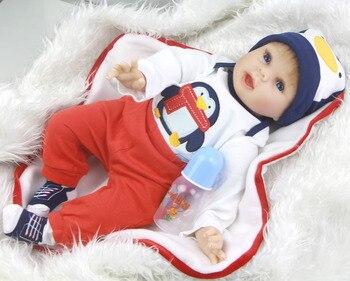 55cm Soft Silicone Reborn baby Dolls bebes Reborn Vinyl Boneca real newborn dolls for children gift