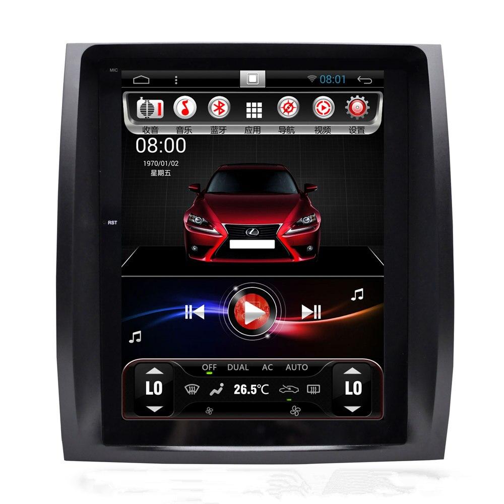 10.4 Vertical Da Tela Tesla GX470 Android Unidade de Cabeça Autoradio GPS Som Do Carro para Lexus GX 470 2004 2005 2006 2007 2008 2009