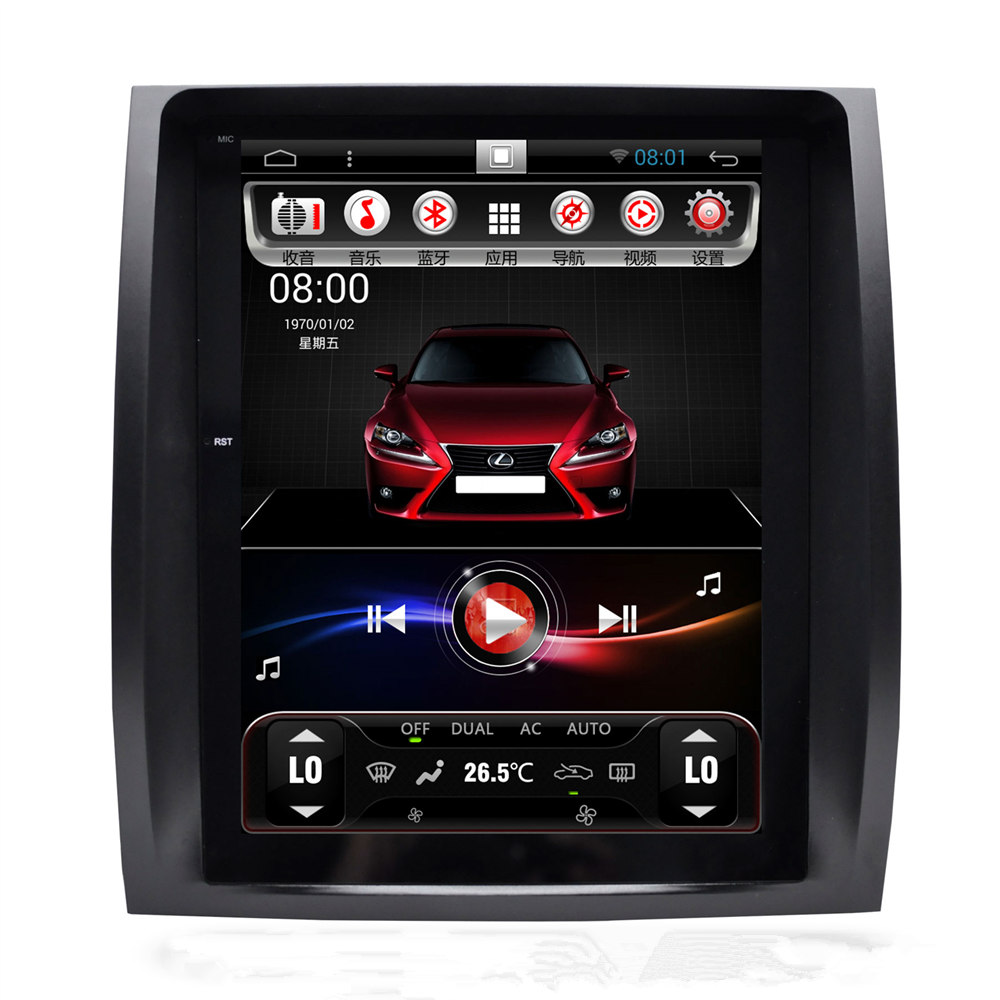 10.4 Tesla Vertical Écran Android Autoradio Autoradio GPS Unité de Tête pour Lexus GX470 GX 470 2004 2005 2006 2007 2008 2009