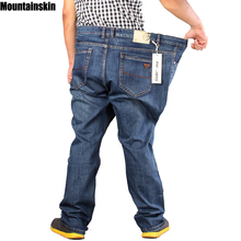 2015 NEW mens full length retro jeans men casual straight fitness jeans designer Plus big size