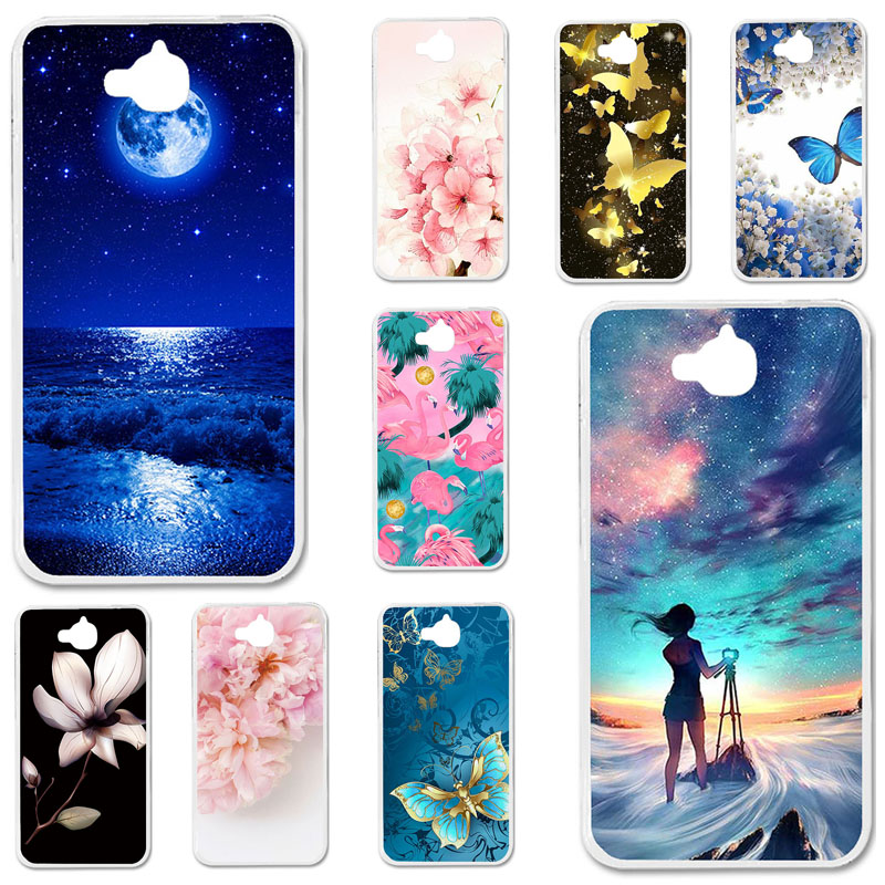 Cases Phone-Cover Tit-U02-Case Huawei Honor 4c Pro Back-Fundas Silicone Bumper for Y6