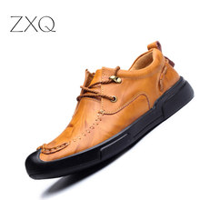 Handmade Men Shoes Cow Split Leather New 2017 Autumn Urban Men Casual Footwear Comfortable Oxford Shoes