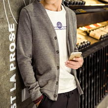 2016 Autumn spring winter male clothing casual long-sleeve men cardigan sweater slim top trend yarn fashion