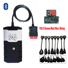 2018 obd2 best V9.0 PCB VD DS150E CDP 2016.R0 with bluetooth for delphis diagnostic tool+8 pcs car cables .