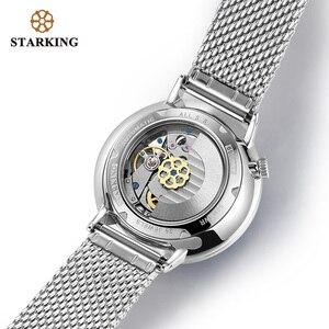Image 4 - STARKING montre automatique Relogio Masculino auto vent 28800 Beats mouvement mécanique montre bracelet hommes en acier mâle horloge 5ATM AM0269