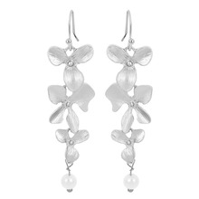 купить 1Pair Gold Silver Plated Orchid Earrings for Girl дешево