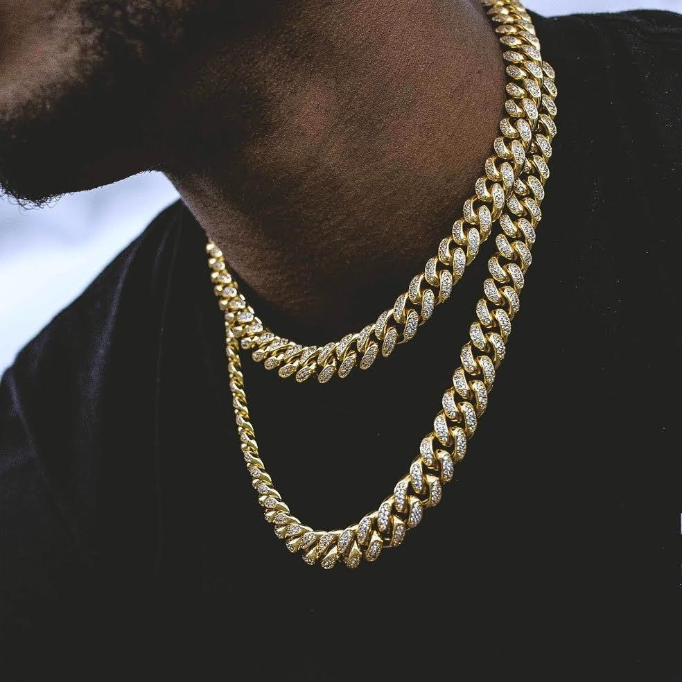 2018 USA Miami cuban link chain micro pave AAA sparking bling cubic zirconia wide chain hip hop Rock bling men cool necklace 7 rose gold black color unique new cuban link chain design cool mens jewlery hiphop rock wide cuban link chain bracelet bangle