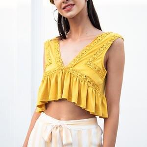 dcdcc5df18acf0 Kate Kasin Summer Women Sleeveless Crop Top shirt tank vest