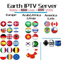 Full Europe World HD IPTV Subscription for Arabic Poland Dutch UK German Greece Sweden Nordic USA IPTV M3u smart enigma2 tv box(China)