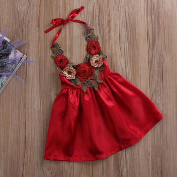 Pudcoco Baby Girl Dress 2017 Cute Toddler Kids Baby Girls Party Flower Sundress Formal 3d Dresses Clothes 0-5Y 1