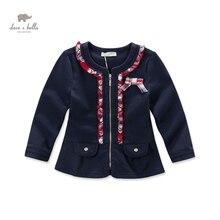 Бесплатная доставка DK0461 дэйв белла осень девочки темно-красный плед пальто девушки лук симпатичные верхняя одежда