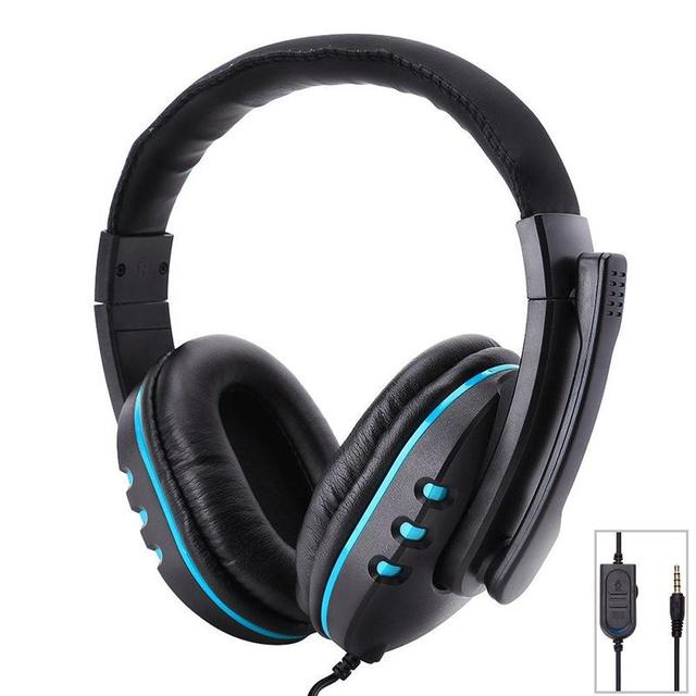 ee84f4b597c Ostart Stereo 3.5mm Wired Headphones with Mic Adjustable Over Ear Gaming  Headsets Earphones Low Bass