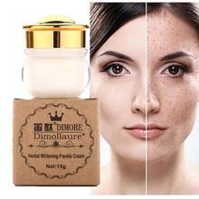 Dimollaure cremă de albire pe bază de plante Eliminați melasma Freckle speckle arsuri solare Spoturi pigment melanină piele acnee piele cosmetice pe față