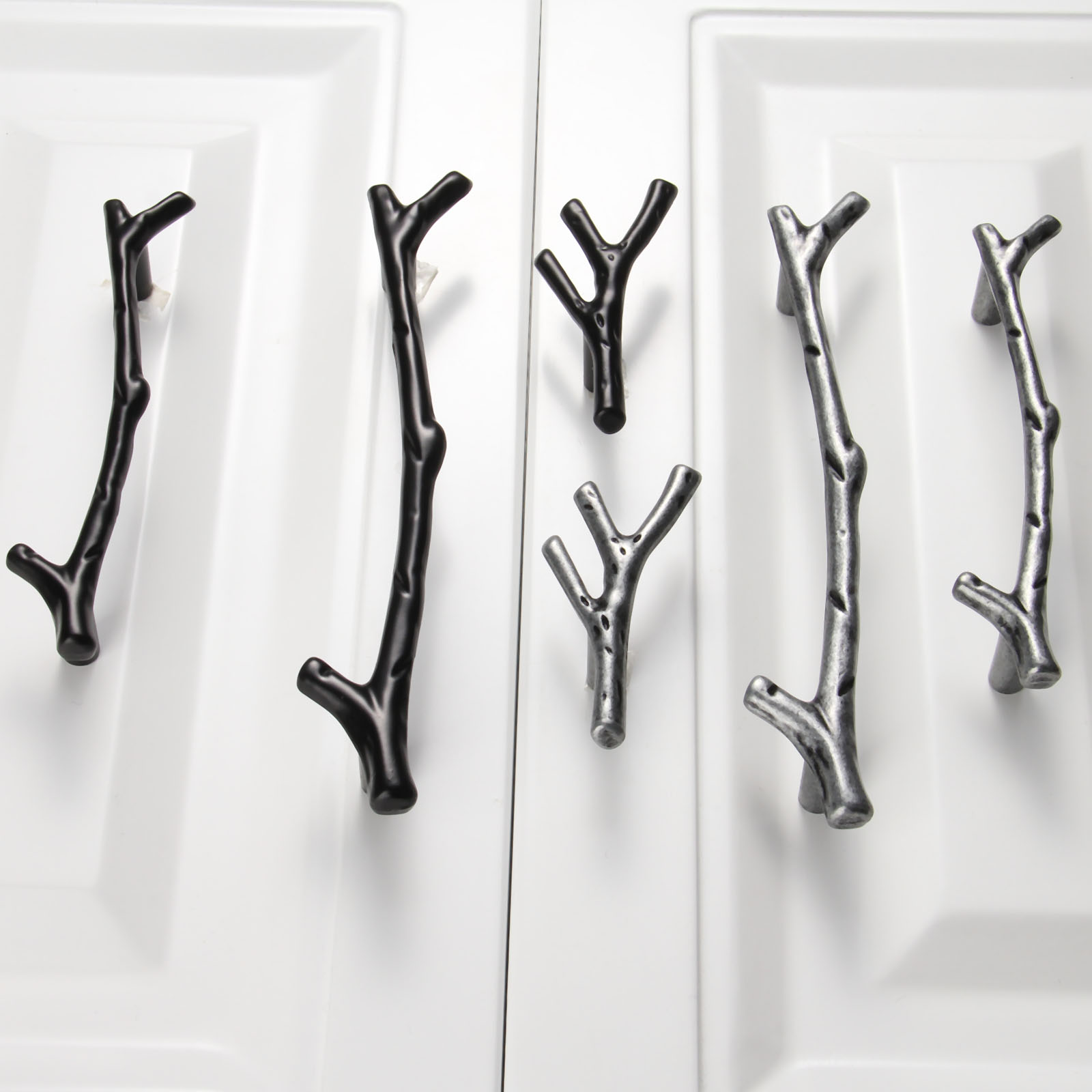 1Pc 96/128mm Furniture Handles Tree Branch Kitchen Closet Drawer Handles Pulls Cupboard Dresser Cabinet Knobs and Handles 53000459