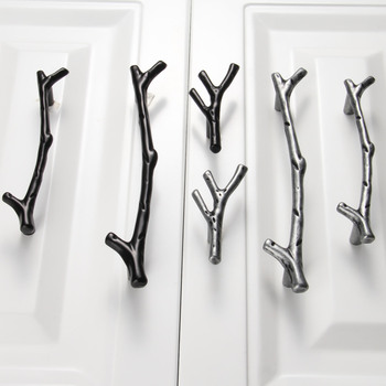 1Pc 96/128mm Furniture Handles Tree Branch Kitchen Closet Drawer Handles Pulls Cupboard Dresser Cabinet Knobs and Handles cutting tool
