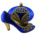 Royal Blue 8 CM Pumps Italian Shoe And Bag Set African Shoes And Matching Bags Italian Women Shoe And Bag To Match For Parties