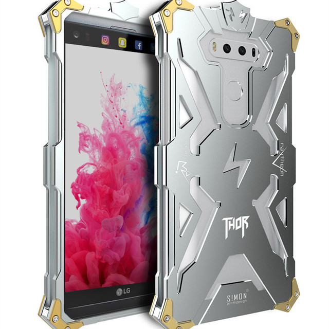 newest collection 0a395 30153 US $25.99 |Case for LG V20,Simon Thor Series Iron Body All Metal Aluminum  Hard Rugged phone Case for LG V20 LG V20 Armor back Cover-in Half-wrapped  ...