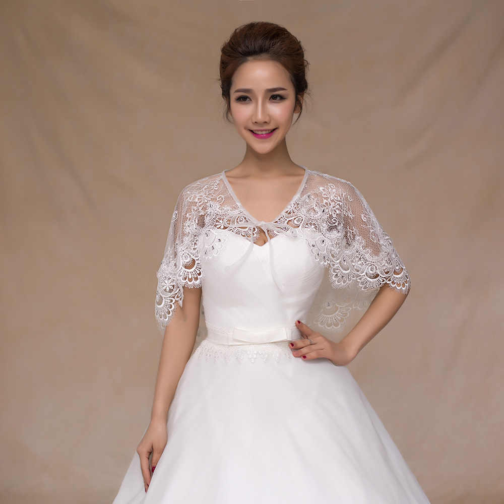 Wedding Dresses Bolero.Janevini 2018 New Beaded Lace Up Bridal Cape For Wedding Dresses Women Summer Spring Lace Bolero Sposa Short Cloak Shrug Jacket