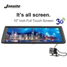 Jansite Автомобильные видеорегистраторы 10 «Сенсорный экран Android 5.0 3 г автомобиля Камера GPS навигаторы FHD 1080 P видео Регистраторы зеркало DVR WI-FI регистраторы