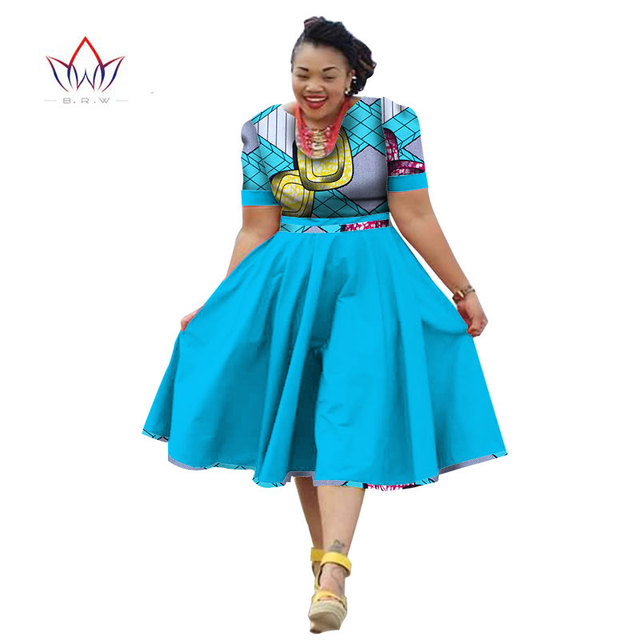 c976a1b5af Plus Size Clothing 2019 summer Dress african traditional clothing for women  Bazin Riche african print dress short sleeve WY733