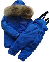 Меховая куртка-пуховик с капюшоном для мальчиков и девочек, теплый детский зимний костюм, непромокаемая детская парка, пальто, зимний костюм, зимняя одежда для девочек